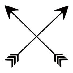 ... tattoo of two crossed arrows