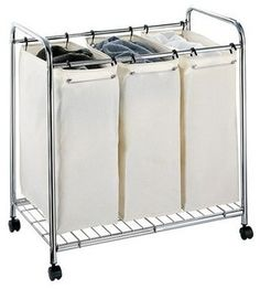 Neu Home 3-Section Laundry Sorter - contemporary - hampers - Target