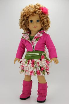Handmade 18 inch doll clothes Pink and lace 5 piece peleton All American Girl Dolls, American Girl Crafts, American Girl Clothes, Ag Doll Clothes, Doll Clothes Patterns, Clothing Patterns, Vintage Kids, Vintage Dolls, 18 Inch Doll