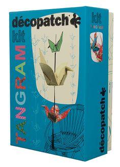 Kit Décopatch Tangram #kitdecopatch #grues #origami