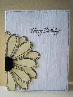 ▷ 1001 + Ideas on how to design birthday cards yourself- ▷ 1001 + Ideen, wie Sie Geburtstagskarten selber gestalten Congratulations cards design yourself for the birthday - Bday Cards, Happy Birthday Cards, Simple Birthday Cards, Birthday Greetings, Happy Birthdays, Homemade Birthday Cards, Homemade Cards, Tarjetas Diy, Congratulations Card