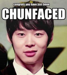 Ooh! Too cute! <3 Chunfaced!!!! #Yoochun!