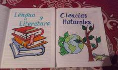 lengua y literatura / naturales Diy Notebook Cover, My Notebook, Diy Decorate Notebook, Diy And Crafts, Paper Crafts, School Notebooks, Felt Owls, Bullet Journal Inspo, School Projects