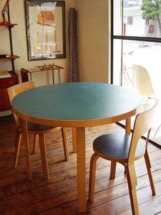 "Vintage ""artek"" by Alva Aalto Alvar Aalto, Counter, Tables, Dining Table, Interiors, Space, Furniture, Vintage, Design"