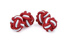 Moda Di Raza Men Cufflinks For Your French Cuff Sleeves-100% Silk Knot Cufflinks >>> To view further for this item, visit the image link.