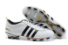 adidas adiPure IV TRX FG Soccer Cleats White Black Gold