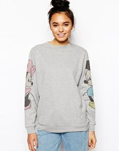 ASOS Sweatshirt with Mickey and Minnie Sleeves