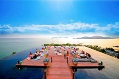 To infinity and beyond! The most amazing swimming pools in the world, from hotel horizon-edge pools to natural lagoons in the rainforest The rooftop bar at SRI PANWA in Phuket, Thailand, appears to float on a wraparound infinity pool with knock-your-socks-off views over Phuket's Cape Panwa peninsula and the Andaman Sea.