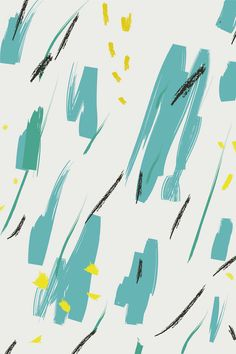 Pattern by Hello Nobo - Wild in blue, yellow, black and green