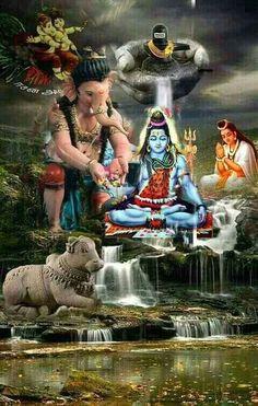 Save to Mahadev Lord Hanuman Wallpapers, Lord Shiva Hd Wallpaper, Lord Ganesha Paintings, Lord Shiva Painting, Shiva Art, Hindu Art, Kali Hindu, Mahakal Shiva, Om Namah Shivaya