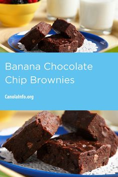 The perfect recipe to do with kids! You only need one big bowl and a spoon. Baking Recipes, Snack Recipes, Snacks, Chocolate Chip Brownies, Baked Banana, Big Bowl, Perfect Food, Winter Food, Baking Pans