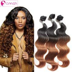 OMGA Brazilian Virgin Hair Body Wave 3Bundles 50g/piece T1B/30 1B 3pcs/lot Unprocessed Brazilian Body Wave 7a Human Hair Weaves http://jadeshair.com/omga-brazilian-virgin-hair-body-wave-3bundles-50gpiece-t1b30-1b-3pcslot-unprocessed-brazilian-body-wave-7a-human-hair-weaves/ #HairWeaving
