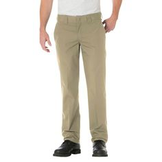 Dickies Big & Tall Slim Straight Fit Lightweight Poplin Pant- Desert Sand 44x32