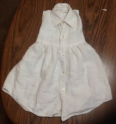 Toddler Dress from Men's Dress Shirt Shows how to make collar/neck small enough to fit...cute and looks easy enough