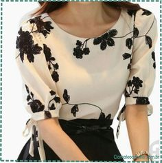 merk blouse on sale at reasonable prices, buy 2015 Zomer Dames Vestidos Retro Bloemenprint Chiffon Shirt chiffon bloemen blouse Vrouwen korte Mouwen Casual Brand Tops from mobile site on Aliexpress Now! White Chiffon Blouse, Chiffon Shirt, Chiffon Tops, Chiffon Floral, Mode Outfits, Fashion Outfits, Fashion Women, Fashion Shirts, Style Fashion