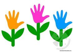 Lavoretti Primavera - Fiore con la sagoma della mano