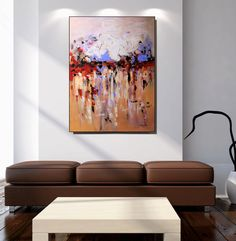 Art Extra Large Red Wall Art Canvas Textured Painting Original Simple Large Artwork For Living Room Decorating Inspiration