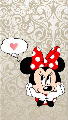 Thinking about you. Cartoon Wallpaper, Mickey Mouse Wallpaper, Cute Wallpaper For Phone, Disney Wallpaper, Retro Disney, Disney Love, Disney Mickey, Disney Art, Cute Backgrounds