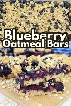 Oatmeal Bars Healthy, Breakfast Bars Healthy, No Bake Oatmeal Bars, Oatmeal Breakfast Bars, Breakfast Cake, Baked Oatmeal, Oatmeal Cups, Blueberry Oatmeal Recipes Breakfast, Baked Oats