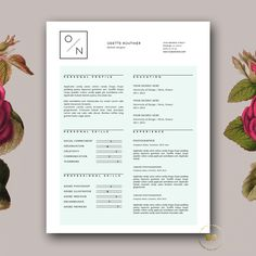 Hipster Resume Template for MS Word by Botanica Paperie on @creativemarket