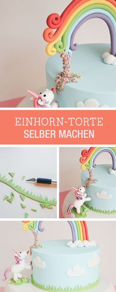 DIY-Anleitung: Kuchenfans aufgepasst, witzige Einhorntorte selbst machen / DIY tutorial: for cake lovers, making funny unicorn pie via DaWanda.com (Unicorn Cake)
