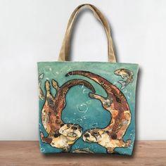 *NEW* TB296 - W'otter L'otter Bubbles Tote Bag