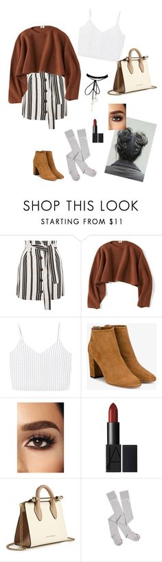 """""""Brunch with friends"""" by sophie295 ❤ liked on Polyvore featuring Topshop, Uniqlo, MANGO, Aquazzura, Strathberry and Vetements"""
