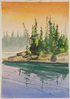 water/landscape (watercolor)