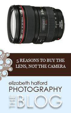 "I get this question a lot: ""should I buy a nicer lens or a flashier camera?"""