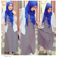 .@rizqinachandra   Thanks babe @wulanbalqis for wear our stripe maxie!   Webstagram - the best Instagram viewer