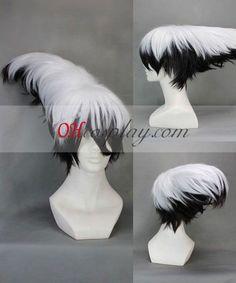 Nurarihyon no Mago Nura Rikuo White&Black Cosplay Wig