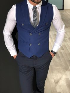 a6fd3057cf53 18 Best Double breasted vest images | Man fashion, Men's clothing ...