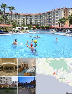 O hotel situa-se na região popular de Kumköy, nos arredores da cidade histórica de Side (a 6 km). A praia fica apenas a 100 m do hotel, o aeroporto de Antalya alcança-se em 60 km e a cidade de mercado de Manavgat apenas em 12 km.