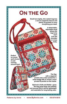 Perfect for quilt shows and travel!