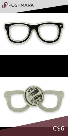 Eyeglass Lapel Pin Nickel plated frames and enamel color fill. Ideal for anyone who likes trendy glasses! Comes with clutch back. Dimension: x Jewelry Brooches Lapel Pins, Brooches, Black Silver, Eyeglasses, Fill, Frames, Women Jewelry, Buy And Sell, Fashion Tips