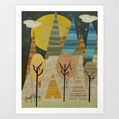 Reunion peaks Art Print by bri.buckley - $21.00