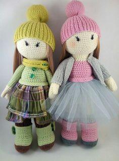 Вязаные игрушки и куклы   МК    Схемы   Описания   VK