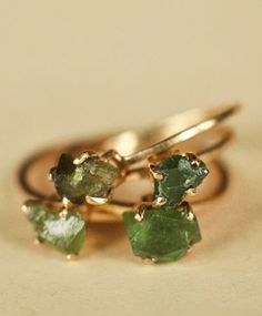 Raw Emerald 14K Gold Ring on Bonadrag by Erica Weiner