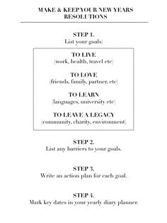 i know its a new years resolution guide but as a basic goal list how-to i think its really awesome