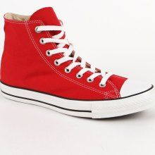 Womens Converse Shoes - Converse Chuck All Star Hi Sneaker - Red - 7