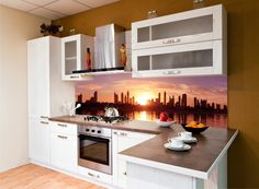 Kuchnia w wielkim mieście. A fototapeta w promocji!! Zobacz tu: http://www.fototapeta24.pl/getMediaData.php?id=27887180     #kuchnia #kitchen #aranżacja_kuchni #fototapeta #fototapeta24pl #design