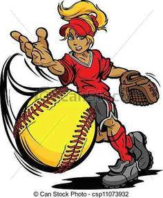 sports clipart image of girl holding a softball http www rivalart rh pinterest com girls softball clipart free