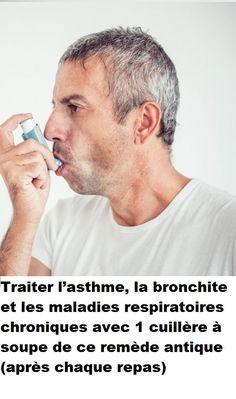 Traiter l'asthme, la bronchite et les maladies respiratoires chroniques avec 1 cuillère à soupe de ce remède antique (après chaque repas) Medical, Words, Glamour, Lungs, Health Remedies, Natural Remedies, Active Ingredient