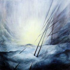 ARTFINDER: Nowhere - I by Marjan Fahimi - Oil on wood - 100x100 cm