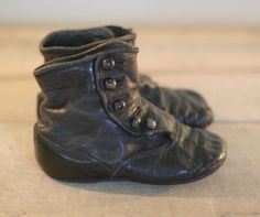 Vintage Steampunk Victorian Baby Shoes