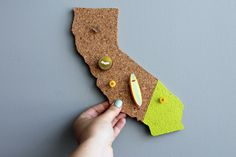 Represent your home state with this DIY cork project.