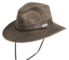 CoV-Ver Cotton Blend Brown Distressed Outback Hat $27.95