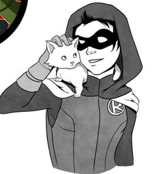 Damian and a cat