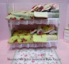 Custom Order Reserved For Wei - 1:6th Scale Shabby Chic Bunk Beds/twin Beds