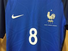 Nike Maillot de Football Park VI Bleu Blanc Junior